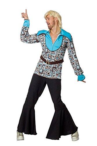 Herren Kostüm 70er Jahre Disco Fieber Tänzer Karneval Fasching (Disco Tänzer Kostüm)