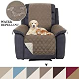 BellaHills Recliner Chair Covers Recliner Slipcover Recliner Protector, Slipcovers for Recliner, Pet Cover for Recliner, Machine Washable Reversible and Quilted, 2' Straps (Recliner: Taupe/Beige)