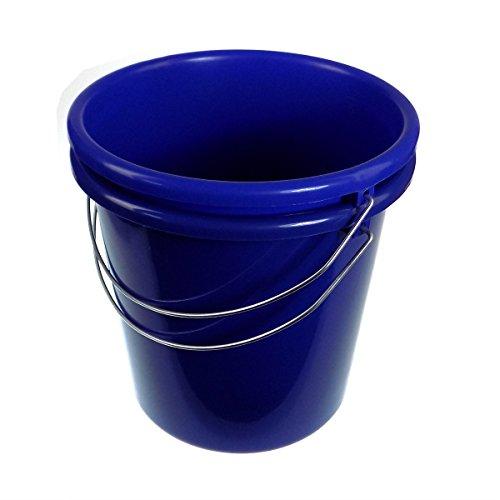 Putzeimer Eimer 5 Liter Kunststoff blau mit Metallbügel 2 Stück