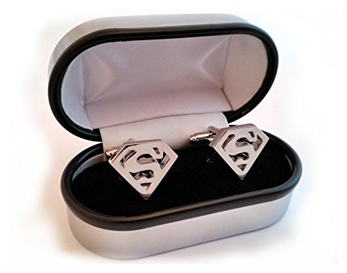 boutons-de-manchette-super-heros-superman-black-taille-unique