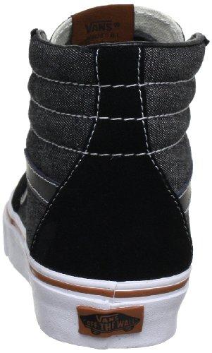 Vans U Sk8 Hi - Baskets Mode Mixte Adulte Noir (Suede/Denim B)