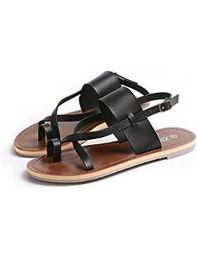 pengweiSandalias de las se?oras Zapatos rojos ocasionales Zapatos planos ocasionales , US6 / EU36 / UK4 / CN36