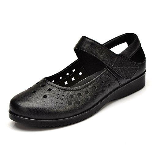 mère en chaussures d'été/Femmes sandales plates/Coupe basse chaussures Velcro A