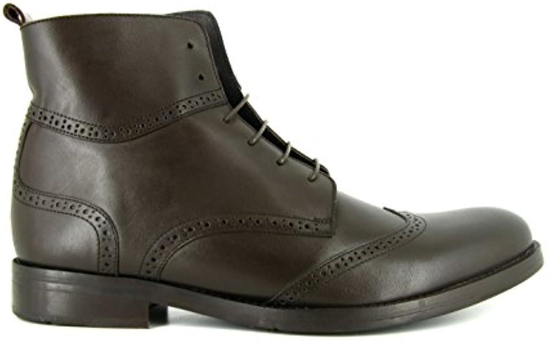 J.Bradford Zapatos Hombre Botines Cuero Marron JB-Victor