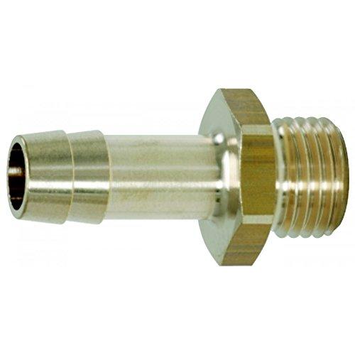 KSTools 515.3387 Raccords de Filetage Mâle Pr Tuyaux 1/4''Gx6 mm Clé 17 mm L.35 mm