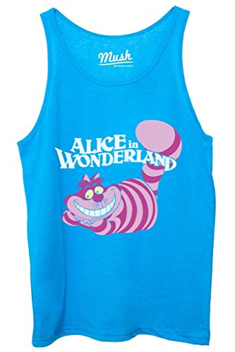 Canotta STREGATTO ALICE IN WONDERLAND - CARTOON by MUSH Dress Your Style - Donna-XL Blu Royal
