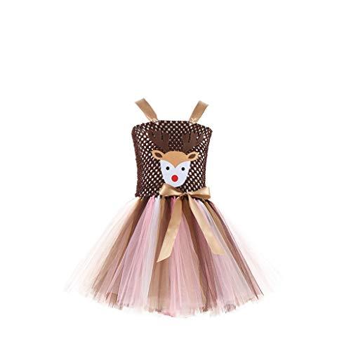 9 Kostüm Verkauf Für Von 7 - Mädchen Kinder Kostüm Fasching Karneval Mesh Tüll Prinzessin Kleid Tanzkleid Tütü Rock Weihnachtskleid Regenbogen Kleid Chiffon Kleid Cocktail Kleider