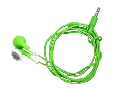 Ecouteurs Stereo Mp3, Ipod Ipad etc - Vert / Green