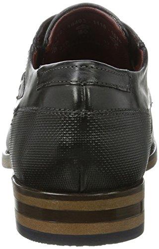 Bugatti 312164031110, Derby Uomo Grigio (Grey / Black)