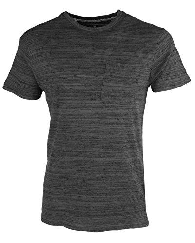 Threadbare Herren 'Ferndale' Marl Effekt Rundhalsausschnitt T-Shirt Grau