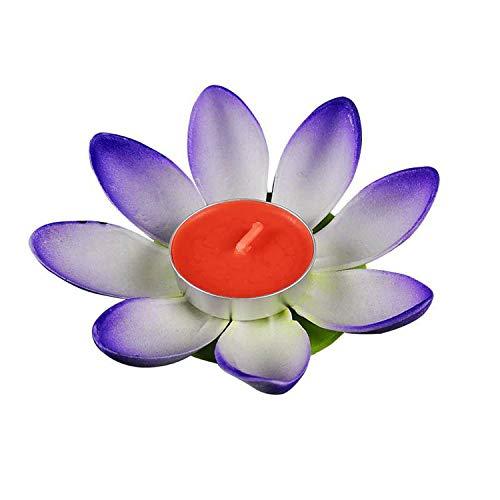 Velas para Mujeres, 30 Unidades, románticas Flores de Loto, farolillos de Agua, Velas flotantes para cumpleaños, Festivales, Fiestas, decoración de Deseos, Azul, 1