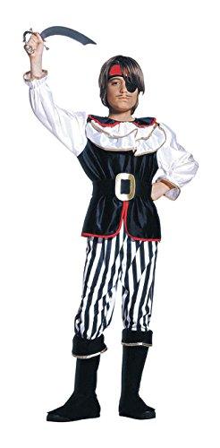 1800 Kinder Kostüm - WIDMANN 1800-Pirat, schwarz/weiß, 128cm, 5-7Jahre