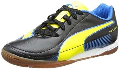 Puma Velize II IT Jr 102989, Unisex-Kinder Hallenschuhe, Schwarz (black-blazing yellow-brilliant blue 02), EU 38 (UK 5) (US 6)