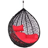 GLOBAL CORPORATION Iron Round Modak Swing, Standard (Black, GC003)