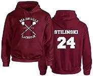 Rejoicing Beacon Hills, Felpa con cappuccio unisex, da lacrosse, per inverno, autunno e primavera, con nome St