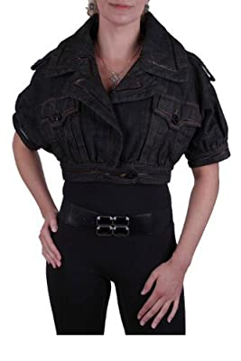 Diesel Women's Jean Jacket Bolero 31.N.Y.DS0626 Giacca black