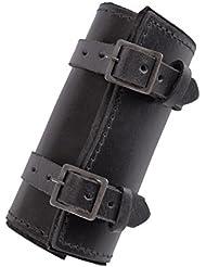 Fácil Espada tubos de piel Holster Espada Soporte Medieval Negro