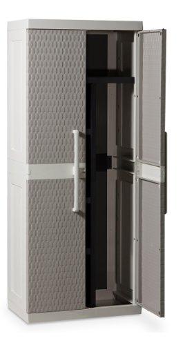 Toomax-Z241R025-Armadio-Rattan-Line-M-Portascope-68X42X170-GrigioTortora