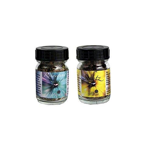 flora perpetua Thomas Kinkele e.K. Räucherung Abwehr-Räuchermischung 2er Set Schutz und Reinigung, in 50 ml Glasfläschchen
