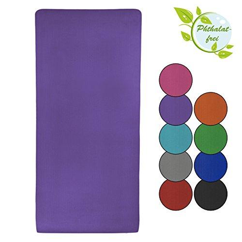 Yoga-Matte in vielen verschiedenen Größen und Farben rutschfest phthalatfrei für Gymnastik Turnen Pilates extra dick, Farbe:Vivid Violet;Maße:200 x 80 x 1.5 cm