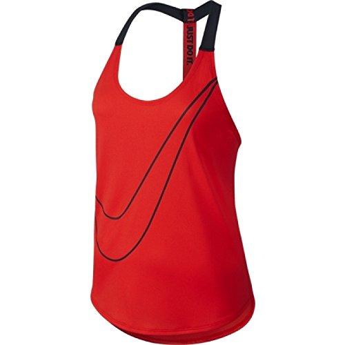 Nike-loose-training Top (Nike Elastika Graphic Women's Training Tank Top Rood / zwart, M)