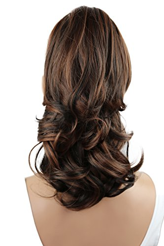 PRETTYSHOP Voluminöses Haarteil Hair Piece Pferdeschwanz Zopf Ponytail ca 35cm diverse Farben (braun mix H92_4H30)