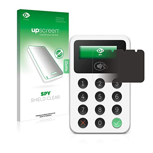 upscreen Anti-Spy Blickschutzfolie kompatibel mit iZettle Reader 2 Privacy Screen Sichtschutz Displayschutz-Folie