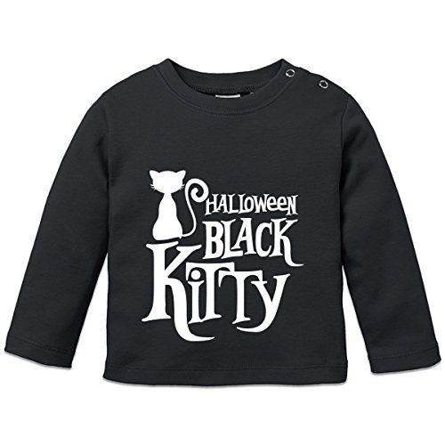 Shirtcity Halloween Black Kitty Baby Langarmshirt by (Black Kitty Kostüm Baby)