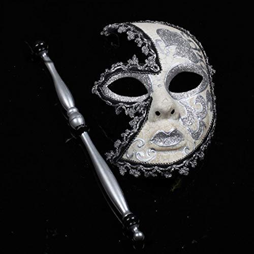 Venezianische Prinzessin Kostüm - Unbekannt Mask- Weihnachtshand italienische Maske venezianische Maske Prinzessin Maske Kostüm Ball Maske (Farbe : F)