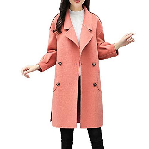 Staresen Mantel Damen Winte Warm Coat Faux Thick Warm Slim Jacket Outerwear Mode Overcoat Langer Damen Wintermantel Mantel Damen elegant Winter