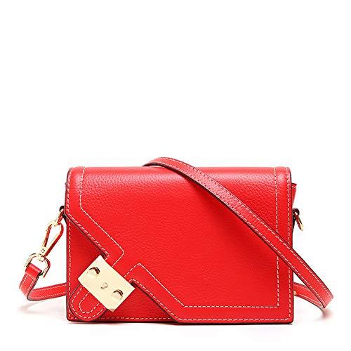 QIANHEDAMAI Neueste Leder Flap Bag Handtaschen-Frauen-Qualitäts-Weibliche Schulter Crossbody Beutel -