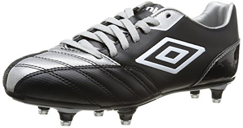 Umbro Decco, Herren Fußballschuhe Schwarz - Noir (218 Black/Silver)