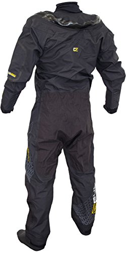 GUL Code Zero Stretch U-Zip Drysuit Dry Suit Schwarz Inc Con Zip - Easy Stretch Wasserdicht Spritzwasser
