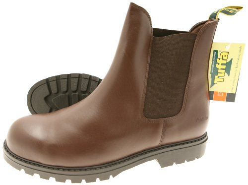 tuffa-trojan-pull-on-safety-boot-brown-size-41