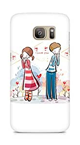 Amez designer printed 3d premium high quality back case cover for Samsung Galaxy S7 Edge (I love you valentines day)