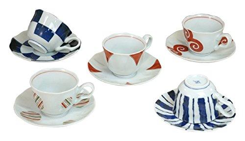 Saikai Ceramica Coppia Tazza di Caffè&Piattino 14112 Fatto in Giappone Set di tazza e (Cina Tazze Set)
