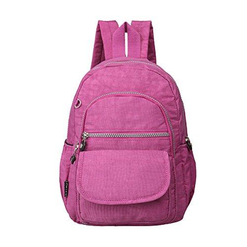 Yy.f Nuova Borsa A Tracolla Borse Panno Di Lavaggio Selvaggio Impermeabile Viaggio Zaino Semplice Multicolore Pink
