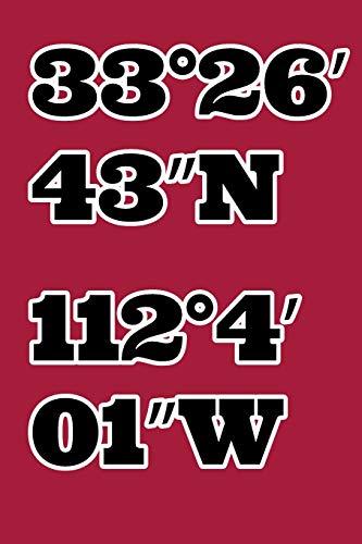 33°26′43″N 112°4′01″W: Arizona Diamondbacks Handy Baseball Souvenir Composition Notebook Gift for your favourite ballpark stadium location Mlb Baseball-handy