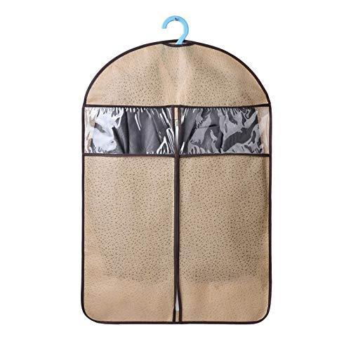 Kleidung Staubschutzhülle, dicke hängende Kleidung Staubbeutel, feuchtigkeitsbeständige Haushaltsfalten (5 Packungen) 3 Farben (Farbe : Gelb, größe : 60 * 128cm)