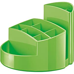 HAN 17460-90, RONDO Desk tidy. Elegant, glossy, premium quality with 9 compartments, New Colour green