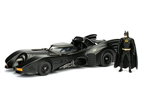 Jada Toys–98260bk–Batmobil–Batman Returns 1989–Maßstab 1/24–Schwarz (Batman Batmobile)