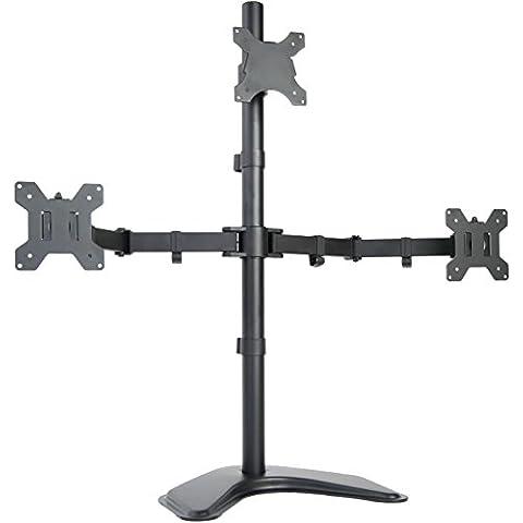 Triple LCD Soporte de escritorio soporte de monitor,, de pie, Heavy Duty & Totalmente Ajustable con 3pantallas de hasta 27