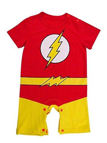 Strampler, im Stil von The Flash, für Babys und Kleinkinder, Kostüm für Partys/zum Spielen