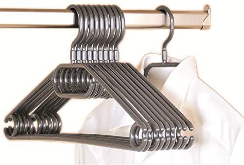 Kesper 16812 Kunststoff-Kleiderbügel, 10-er Pack, 40 cm, grau