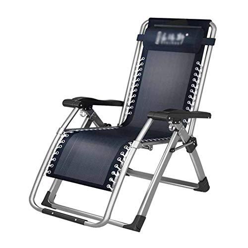 Textilene Zero Gravity Chaise Pliante Inclinable Sun Lounger Chaise De Jardin Garden Beach Portable Bleu Réglable