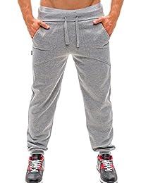 OHQ Pantalones De PantalóN De Hombre Color SóLido Tendencia Primavera , Gris / Plata / Negro,Pantalones Largos Para Hombre…