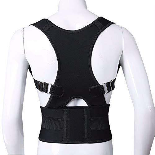 WDDGPZJD Körperhaltung Korrektor Haltung Unterstützung Wirbelsäule Gürtel Rücken Körperhaltung Korrektor Männer Frauen Magnetic Brace Schulterstütze Verstellbarer GürtelZurück Korrekte Klammer - Haltung Unterstützung Korrektor