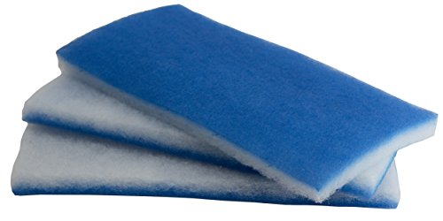 inTank Aquarium und Teich Value Pack–Bonded Blau & Weiß Poly Filter Floss Pads 600-square-inches (Doppel-passe Hinten)