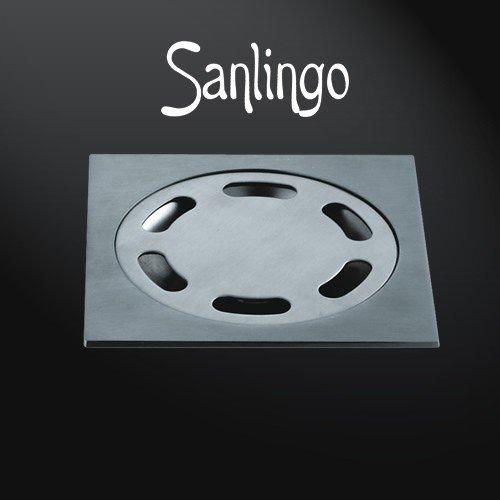 Bodenablauf aus Edelstahl 10 x 10 cm Abfluß Floordrain Gully Keller, Garage von Sanlingo
