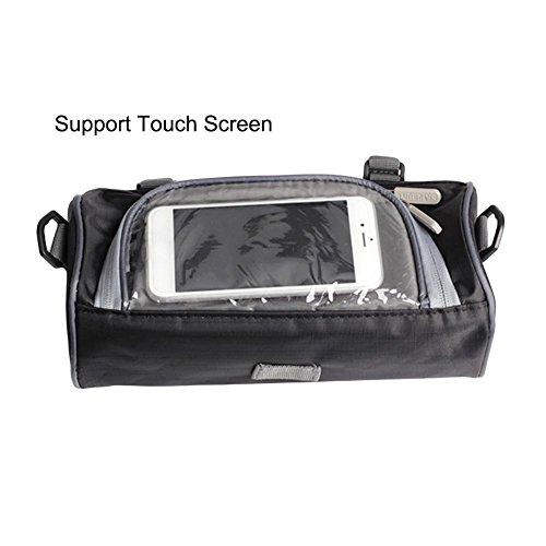 WUYANSE Motorrad-Lenkertasche Motorrad-Aufbewahrungstasche mit transparenter Touchscreen-Tasche und verstellbaren Trägern, große Kapazität (Träger Für Motorrad)